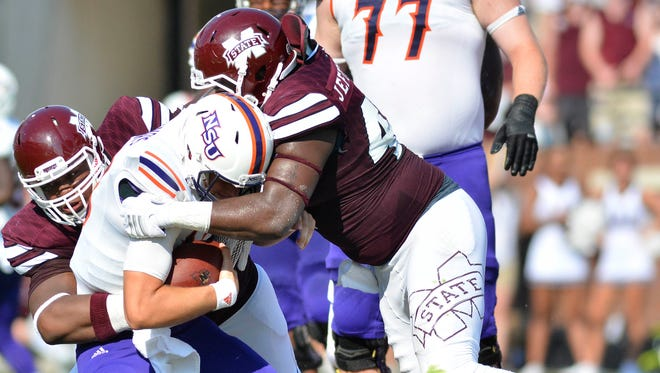 Mississippi State defensive end A.J. Jefferson was named to the Hendricks Award watchlist on Tuesday.