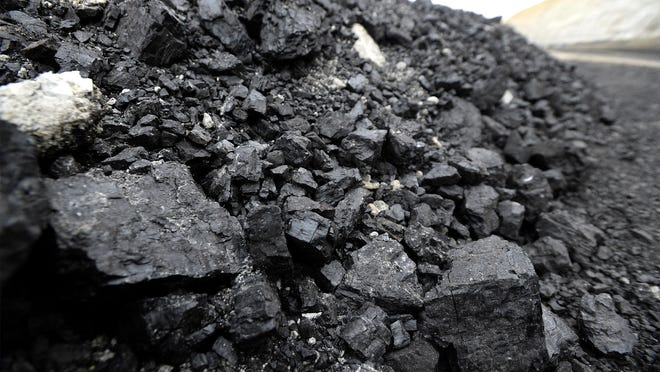 Coal being mined at the Rosebud coal mine in Colstrip, Mont.