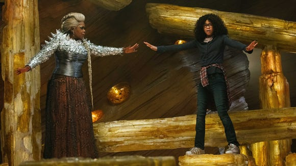 Oprah Winfrey as Mrs. Which and Storm Reid as Meg Murry in the Disney motion picture 'A Wrinkle in Time.'