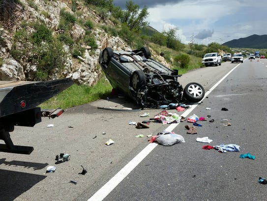 The rollover crash along Interstate 10 in Cochise County