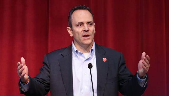 Gov. Matt Bevin issued a statement of support for the victims of the Marshall County High School shooting at the Children's Arts Center in Benton, Ky.