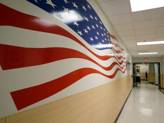 Hallway at the Veterans Crisis Line facility in Canandaigua.