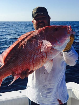 Jay Jenkins of Fort Pierce caught and released this genuine red snapper last year while fishing aboard Fins sportfishing charters with Capt. Rich Kluglein out of Fort Pierce City Marina.