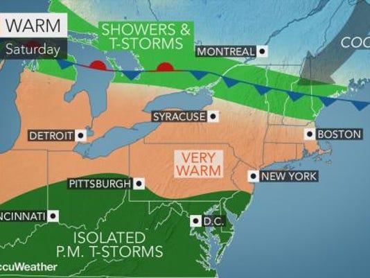 Weather forecast 5-26-18