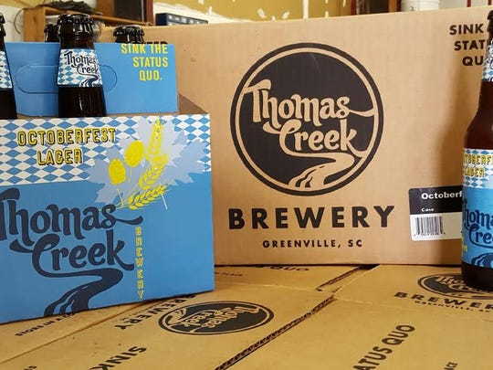 Thomas Creek Brewery in Greenville releases its Oktoberfest beer July  21.