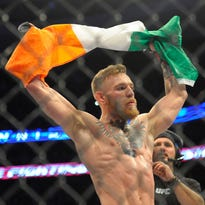 Conor McGregor gets his first shot at a title against Jose Aldo at UFC 189.