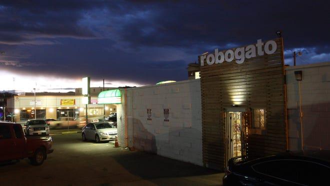Robo Gato is located at 2600-B N. Mesa, behind Papa John's.