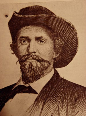 Confederate symphathizers in southern Indiana supposedly hung portraits of Confederate Gen. John Hunt Morgan in their homes.