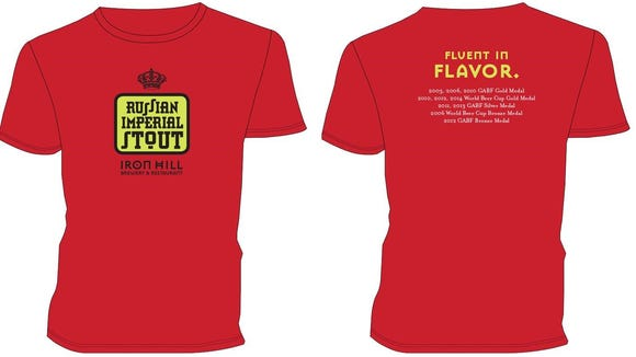 The first 25 King of the Hill members who show their card will take home this T-shirt promoting Russian Imperial Stout.