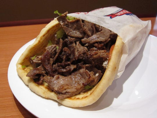 Steak shawarma pita from Pita Kitchen.