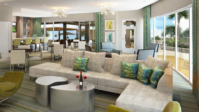 The club room at Grandview at Bay Beach by London Bay Homes.