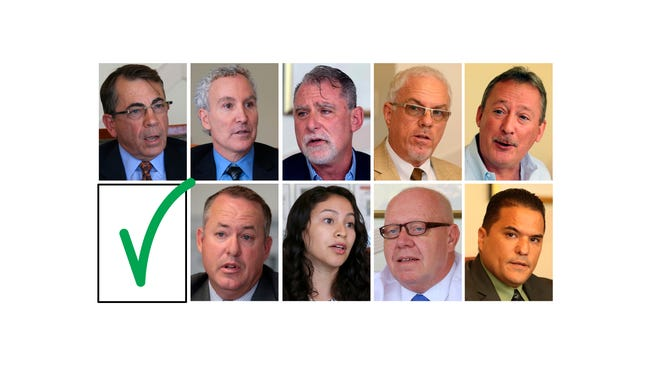 These are the candidates endorsed by The Desert Sun in the Nov. 3 election: Top row, from left: Palm Springs Mayor -- Rob Moon; Palm Springs City Council -- Geoff Kors, J.R. Roberts; Desert Water Agency -- Craig Ewing, Richard Oberhaus. Bottom row: Desert Hot Springs Mayor -- Scott Matas; Desert Hot Springs City Council -- Anayeli Zavala, Larry Buchanan; Desert Recreation District -- Rudy Gutierrez.