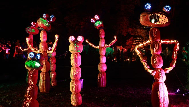 Neal Patrick Harris, Martha Stewart and Liv Tyler are just a few of the celebrities showing the Great Jack O'Lantern Blaze some love on social media.