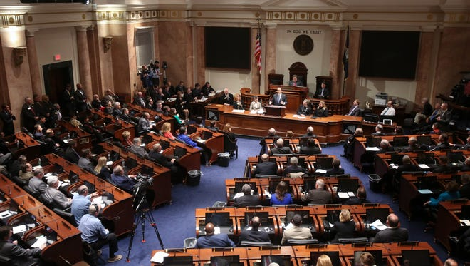 Gov. Matt Bevin delivered the State of the Commonwealth address at the State Capitol in Frankfort.Jan. 26, 2015