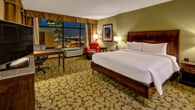The Hilton Garden Inn brand was praised by frequent travelers for amenities and service. This is the Downtown Nashville/Convention Center location
