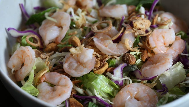 The Asian cabbage salad with shrimp served at Pho Ba Luu. Feb. 23, 2017