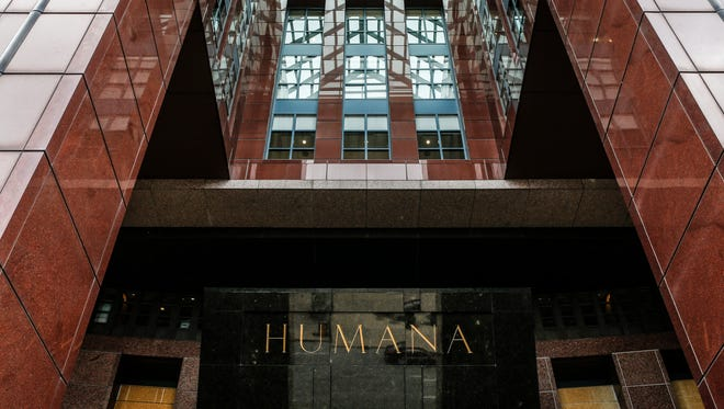 The Humana headquarters in downtown Louisville. March 1, 2017
