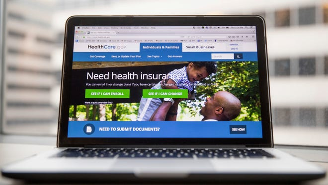 This Feb. 9, 2017, photo shows the HealthCare.gov website, where people can buy health insurance.
