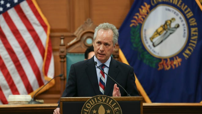 Mayor Greg Fischer presented his budget proposal to the Metro Council, Apr. 27, 2017