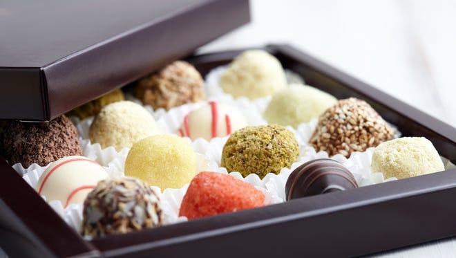 Chocolate truffle candies.