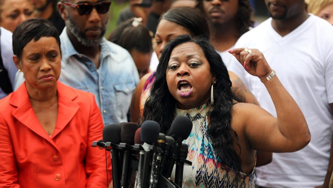 Valerie Castile, mother of Philando Castile, speaks about her reaction to a not guilty verdict for the officer who shot him on June 16, 2017.