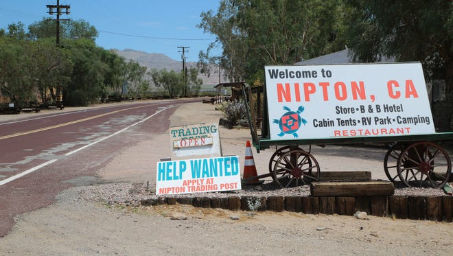 The small town of Nipton, Calif., is under contract for sale to American Green, a cannabis investment firm, Wednesday, August 2, 2017. American Green hopes to make the town a marijuana mecca.