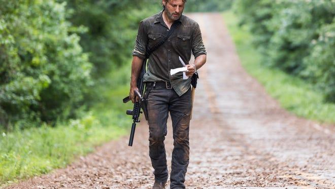 Andrew Lincoln as Rick Grimes - The Walking Dead _ Season 8, Episode 6 - Photo Credit: Jackson Lee Davis/AMC