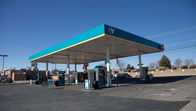 This Valero gas station on U.S. Highway 64 was the scene of a shooting Thursday night targeting battery suspect Ryan Westman.
