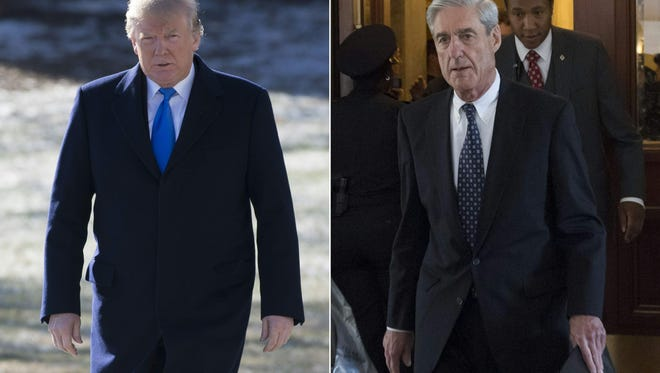 President Trump and Special Counsel Robert Mueller.