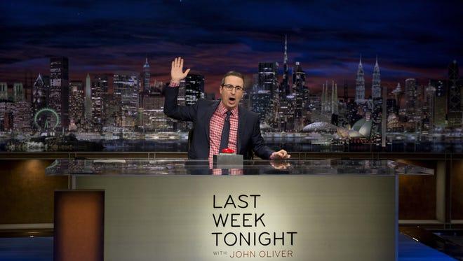 John Oliver of 'Last Week Tonight' in the fourth-season finale of HBO's Emmy-winning series, returning Feb. 18.