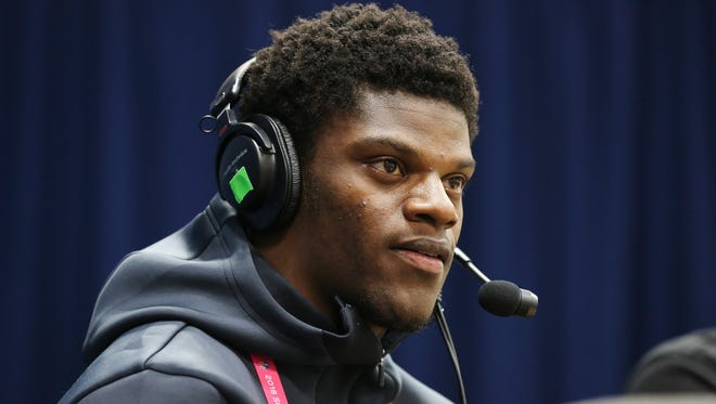 Former U of L QB Lamar Jackson was interviewed by Sirius XM NFL Radio during the NFL Combine in Indianapolis.   Mar. 2, 2018