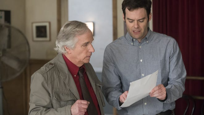 Henry Winkler, left, and Bill Hader co-star in HBO's dark comedy 'Barry.'