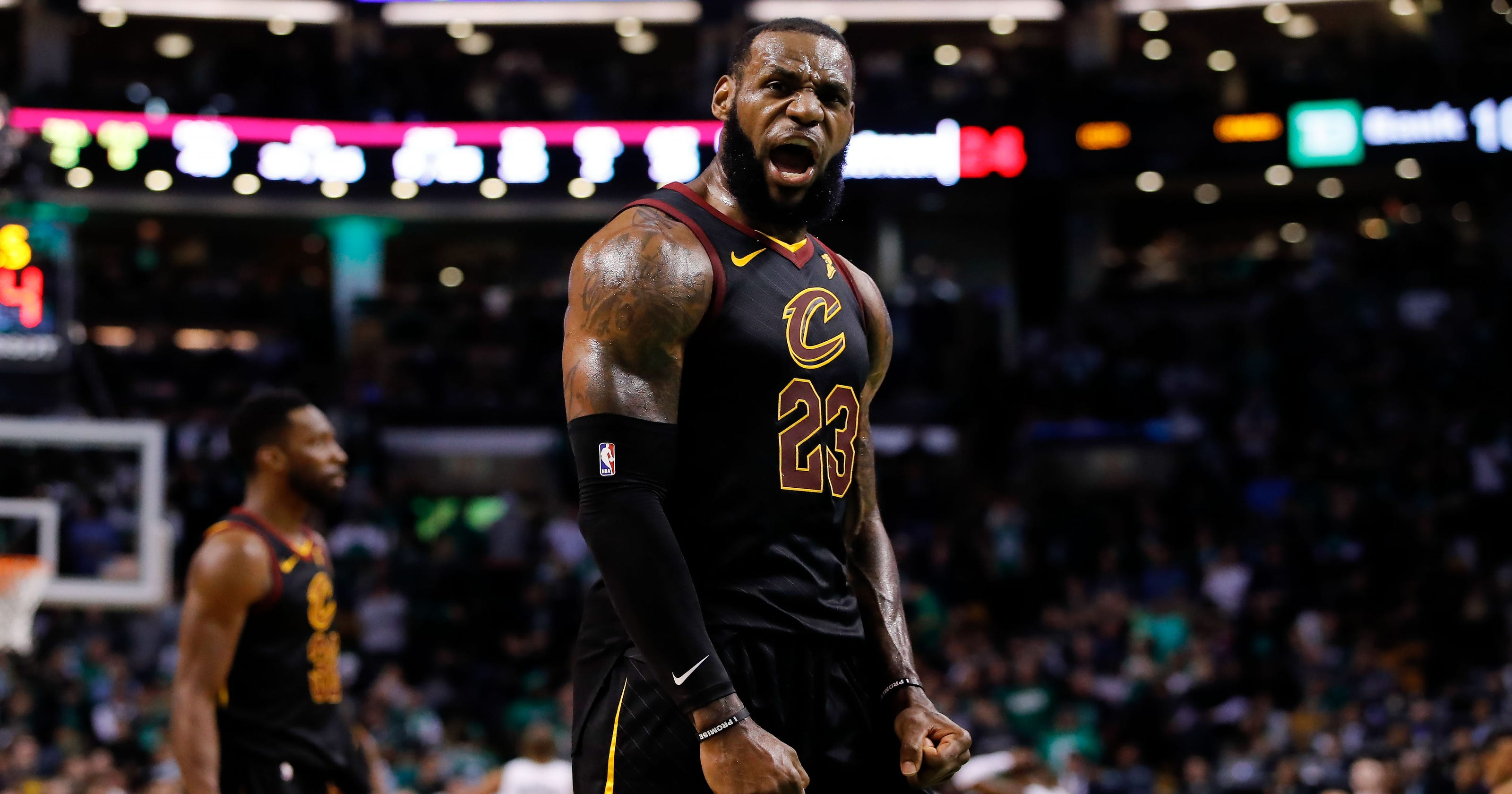 91e494ec0dbc LeBron James powers Cavs past Celtics in Game 7 to reach eighth consecutive  NBA Finals