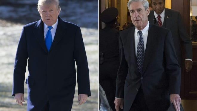 President Donald Trump and Russia special counsel Robert Mueller