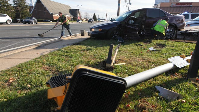 A two-vehicle accident closed U.S. 202 at Sharpley Road on Tuesday afternoon in Wilmington.