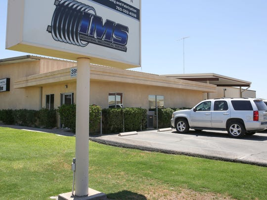 Outside the office of Industrial Mechanical Services, or IMS, in El Centro, California.