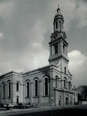 St. Joseph's is seen in this circa 1972 photo. The Franklin Street church was a longtime landmark.