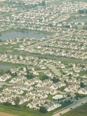 An aerial view of Fishers in September 2003.
