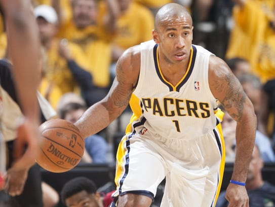 Dahntay Jones, shown here in the 2012 playoffs versus