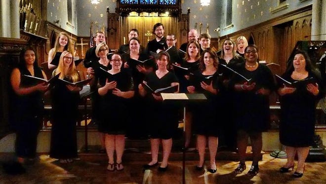 The Rancocas Valley Singers are an adult ensemble group, which performs at various events in South Jersey. They are shown at an earlier performance.