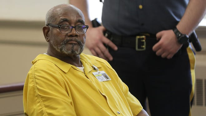 Hudy Muldrow Sr. the school bus driver involved in a fatal collision killing a student and teacher from Paramus on Rt 80 awaiting his detention hearing.