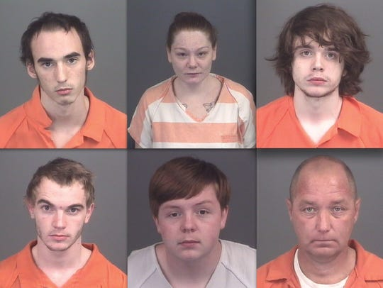 Top row, from left: Kyle Bradley, Leanne Deweese and