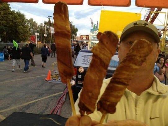 Double bacon corn dog.