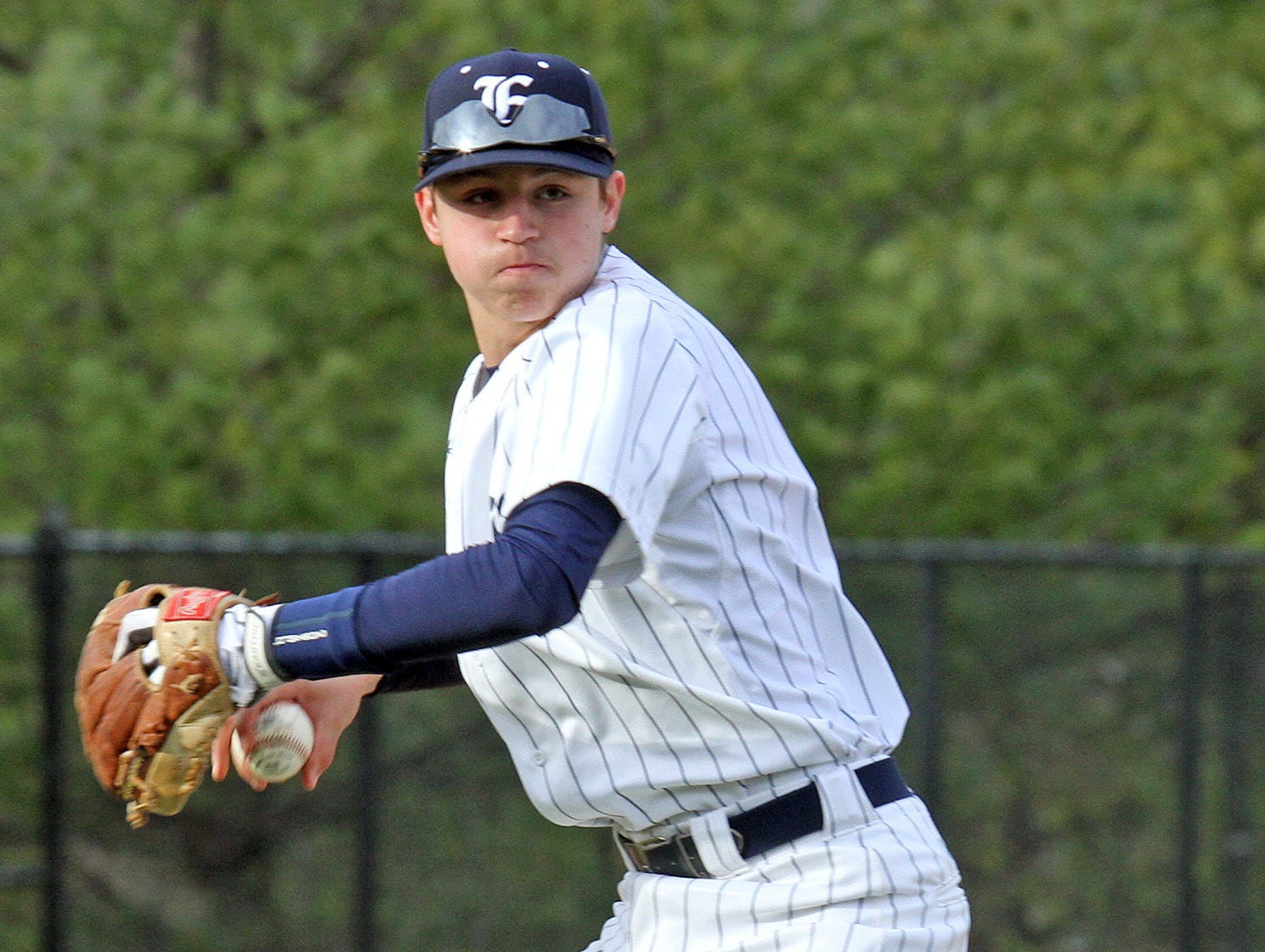 Eastchester defeated Pleasantville 2-1 in 10 innings of baseball at Eastchester High School on March 31, 2016.