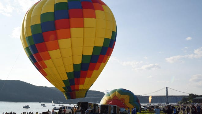 The balloon Paradise Island inflated and ready during last year's Hudson Valley Hot-Air Balloon Festival.
