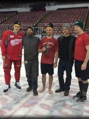From left: Dylan Larkin, Israel Nordin, Luke Glendening, Erik Nordin and Justin Abdelkader.
