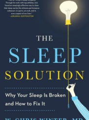 """Book cover of """"The Sleep Solution"""" by neurologist Chris"""