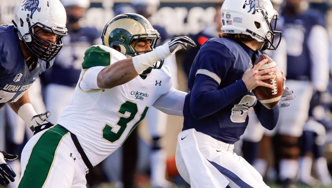 Former CSU linebacker Cory James (31) was picked by the Oakland Raiders in the NFL draft.