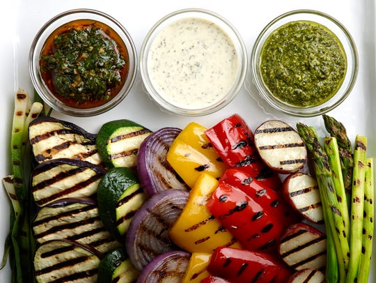 Mixed Grill of Garden Vegetables with Five Mediterranean
