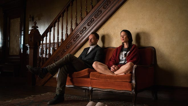 Jonny Lee Miller and Lucy Liu in CBS's 'Elementary.'